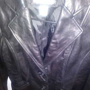 Preston and York button up leather blazer